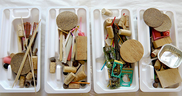 Recycled materials to start creating