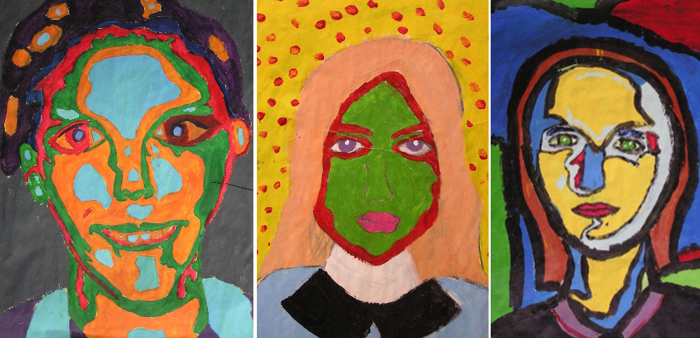 Colourful portraits