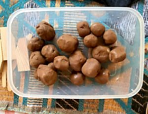 Small balls of clay for young children