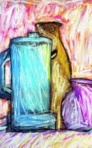 jug with vase