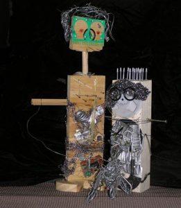 2 robots talking